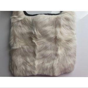brand new, never used Prada fur crossbody bag